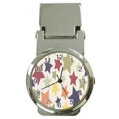 Star Colorful Surface Money Clip Watches by Simbadda
