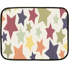 Star Colorful Surface Double Sided Fleece Blanket (mini)  by Simbadda