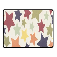 Star Colorful Surface Fleece Blanket (small) by Simbadda