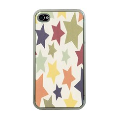 Star Colorful Surface Apple Iphone 4 Case (clear) by Simbadda