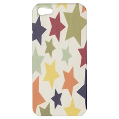 Star Colorful Surface Apple Iphone 5 Hardshell Case by Simbadda