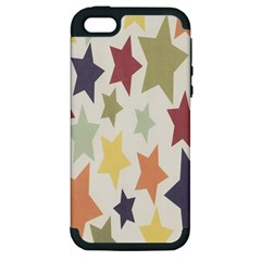 Star Colorful Surface Apple Iphone 5 Hardshell Case (pc+silicone) by Simbadda