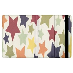Star Colorful Surface Apple Ipad 2 Flip Case by Simbadda