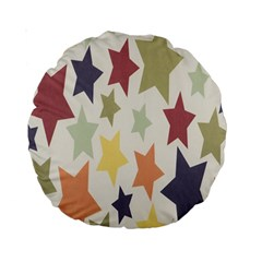 Star Colorful Surface Standard 15  Premium Round Cushions by Simbadda