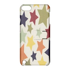 Star Colorful Surface Apple Ipod Touch 5 Hardshell Case With Stand by Simbadda