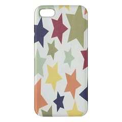 Star Colorful Surface Apple Iphone 5 Premium Hardshell Case by Simbadda