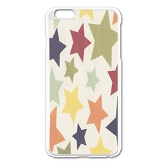 Star Colorful Surface Apple Iphone 6 Plus/6s Plus Enamel White Case by Simbadda