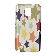 Star Colorful Surface Samsung Galaxy Note 4 Hardshell Case by Simbadda
