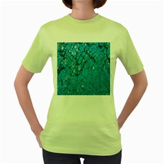Surface Grunge Scratches Old Women s Green T Shirt by Simbadda