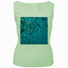 Surface Grunge Scratches Old Women s Green Tank Top by Simbadda