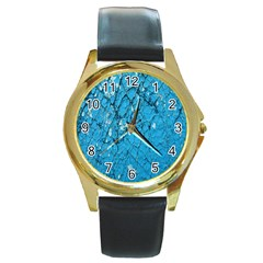 Surface Grunge Scratches Old Round Gold Metal Watch by Simbadda