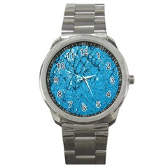 Surface Grunge Scratches Old Sport Metal Watch by Simbadda