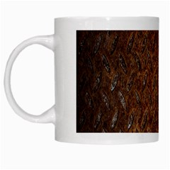 Texture Background Rust Surface Shape White Mugs by Simbadda