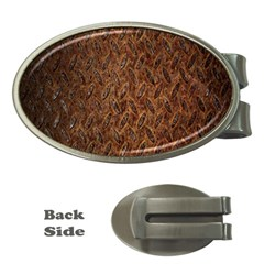 Texture Background Rust Surface Shape Money Clips (oval)  by Simbadda