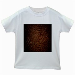 Texture Background Rust Surface Shape Kids White T Shirts by Simbadda