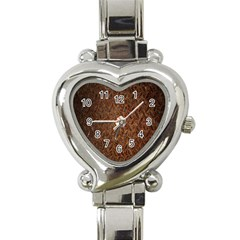 Texture Background Rust Surface Shape Heart Italian Charm Watch by Simbadda