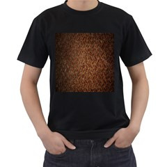 Texture Background Rust Surface Shape Men s T Shirt (black) (two Sided) by Simbadda