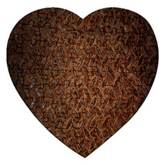 Texture Background Rust Surface Shape Jigsaw Puzzle (heart) by Simbadda