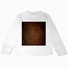 Texture Background Rust Surface Shape Kids Long Sleeve T Shirts by Simbadda