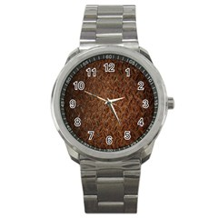 Texture Background Rust Surface Shape Sport Metal Watch by Simbadda