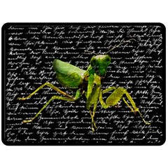 Mantis Fleece Blanket (large)  by Valentinaart