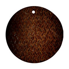 Texture Background Rust Surface Shape Round Ornament (two Sides) by Simbadda