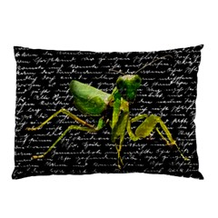 Mantis Pillow Case (two Sides) by Valentinaart