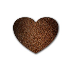 Texture Background Rust Surface Shape Heart Coaster (4 Pack)  by Simbadda