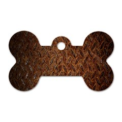 Texture Background Rust Surface Shape Dog Tag Bone (two Sides) by Simbadda