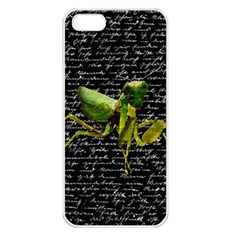Mantis Apple Iphone 5 Seamless Case (white) by Valentinaart
