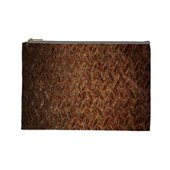 Texture Background Rust Surface Shape Cosmetic Bag (large)  by Simbadda