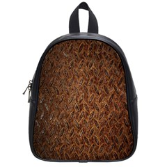 Texture Background Rust Surface Shape School Bags (small)  by Simbadda