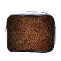 Texture Background Rust Surface Shape Mini Toiletries Bags by Simbadda
