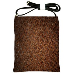 Texture Background Rust Surface Shape Shoulder Sling Bags by Simbadda