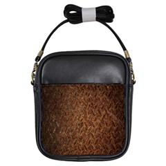 Texture Background Rust Surface Shape Girls Sling Bags by Simbadda