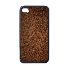 Texture Background Rust Surface Shape Apple Iphone 4 Case (black) by Simbadda
