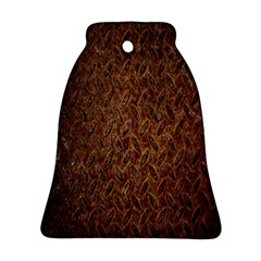 Texture Background Rust Surface Shape Bell Ornament (two Sides) by Simbadda