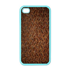 Texture Background Rust Surface Shape Apple Iphone 4 Case (color) by Simbadda