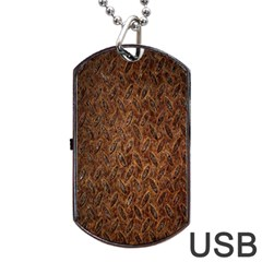 Texture Background Rust Surface Shape Dog Tag Usb Flash (one Side) by Simbadda