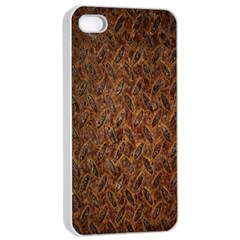 Texture Background Rust Surface Shape Apple Iphone 4/4s Seamless Case (white) by Simbadda