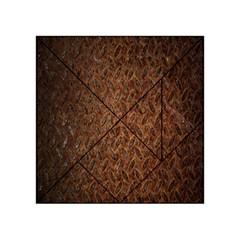 Texture Background Rust Surface Shape Acrylic Tangram Puzzle (4  X 4 ) by Simbadda