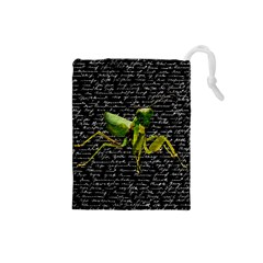 Mantis Drawstring Pouches (small)  by Valentinaart
