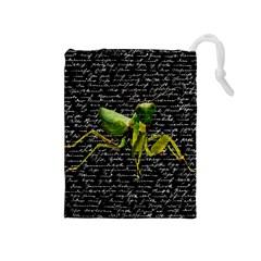 Mantis Drawstring Pouches (medium)  by Valentinaart