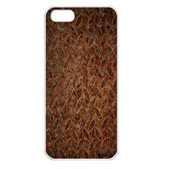 Texture Background Rust Surface Shape Apple Iphone 5 Seamless Case (white) by Simbadda