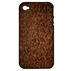 Texture Background Rust Surface Shape Apple Iphone 4/4s Hardshell Case (pc+silicone) by Simbadda