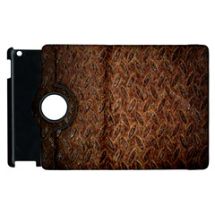 Texture Background Rust Surface Shape Apple Ipad 2 Flip 360 Case by Simbadda