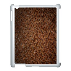 Texture Background Rust Surface Shape Apple Ipad 3/4 Case (white) by Simbadda