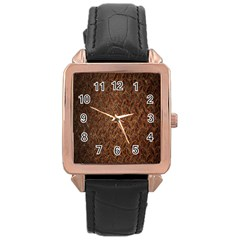 Texture Background Rust Surface Shape Rose Gold Leather Watch  by Simbadda