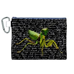 Mantis Canvas Cosmetic Bag (xl) by Valentinaart