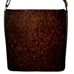 Texture Background Rust Surface Shape Flap Messenger Bag (s) by Simbadda